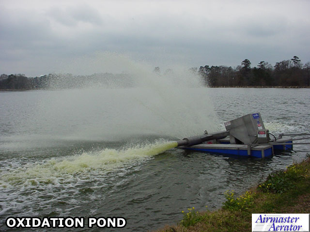 Aerators wastewater treatment aeration systems aeration for Design of oxidation pond ppt